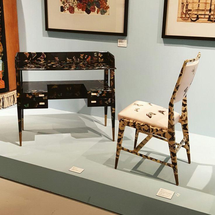 Italian artist 'Piero Fornasetti' exhibition  [Butterflies, 1950s] desk&chair