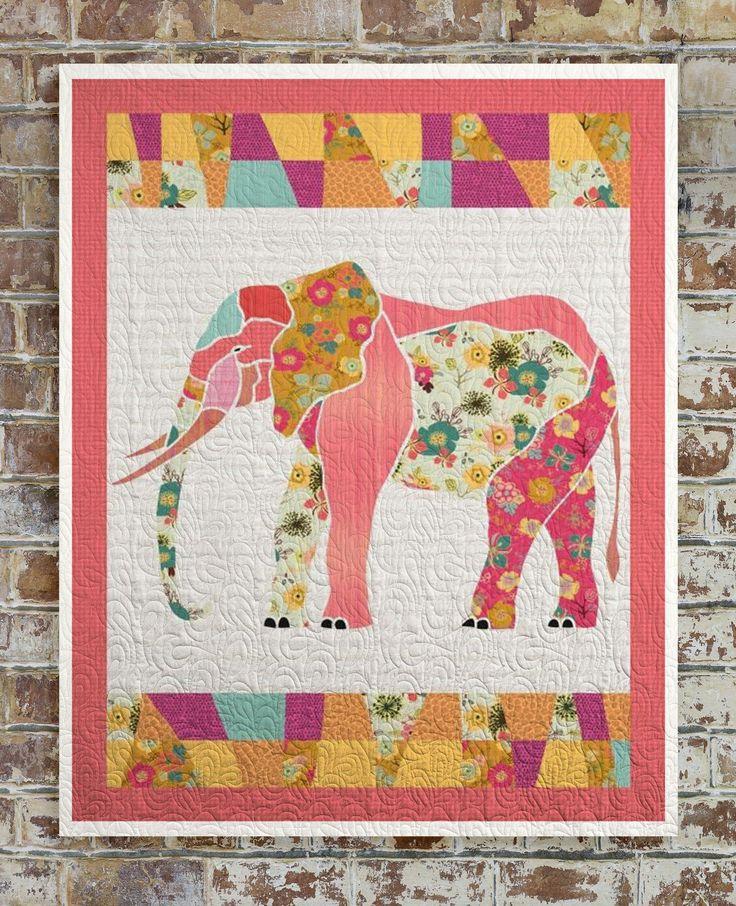25+ best ideas about Elephant quilt on Pinterest Elephant quilts pattern, Baby quilts and Quit ...