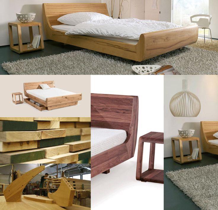 25 best ideas about bett holz on pinterest schlafzimmer. Black Bedroom Furniture Sets. Home Design Ideas
