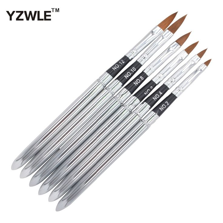 YZWLE 6PCS/Pack Detachable Nail Art Painting Drawing Pen Brush Set for Acrylic Nail UV Gel Manicure Beauty Tools Brushes 31
