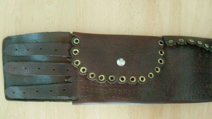 Alter Sächsischer Trachtengürtel Mannsgurt  Leder Handarbeit Siebenbürgen 4