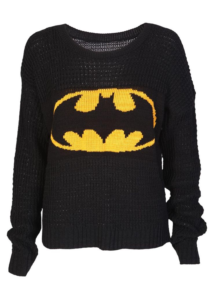 Batman Knitted Jumper - Womens Clothing Sale, Womens Fashion, Cheap Clothes Online | Miss Rebel