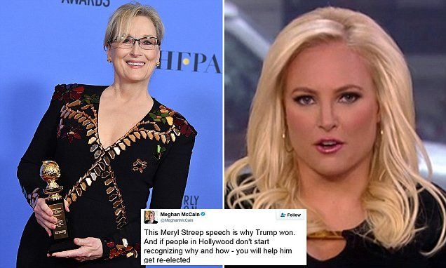Meghan McCain calls Meryl Streep a 'sanctimonious liberal snowflake' and it fits her perfectly.