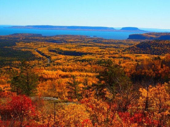 From atop Mt McKay Thunder Bay Ontario