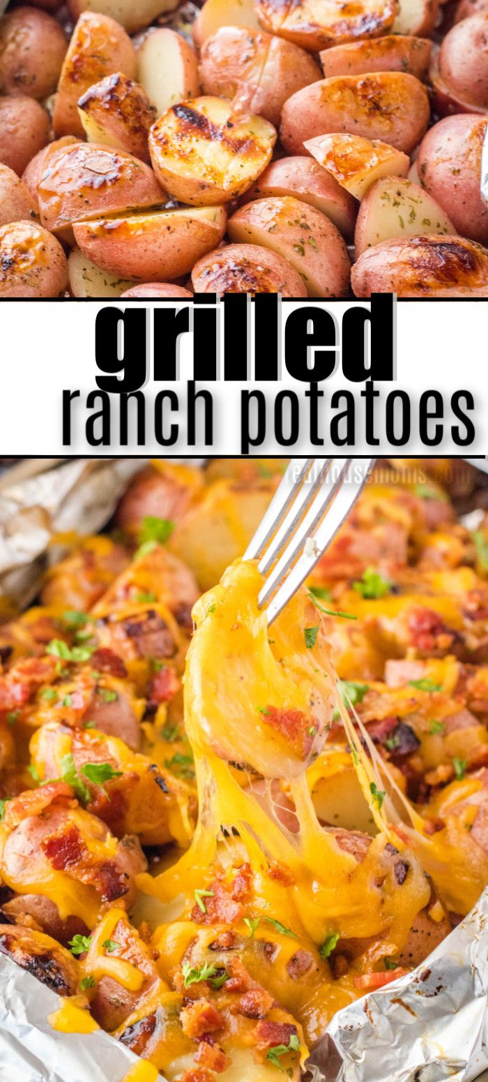 Grilled Ranch Potatoes Are A Simple Side Dish Perfect For Summer Dinners Just Toss Them On Bbq Chicken Side Dishes Grilled Chicken Dishes Grilled Side Dishes