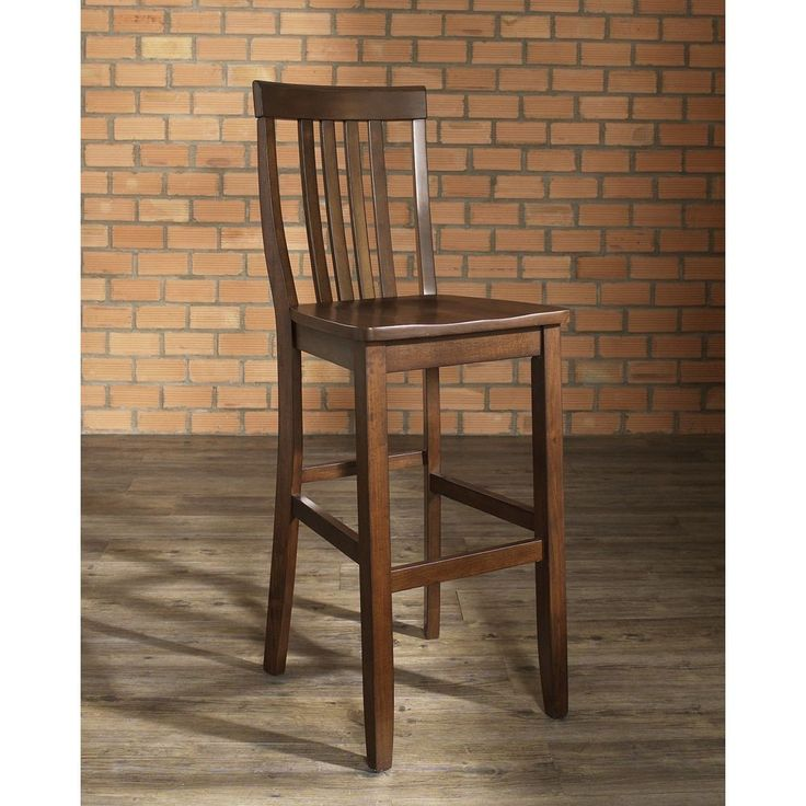 Crosley Furniture School House Vintage Mahogany Finish Bar Stool with inch Seat Height
