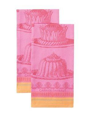 50% OFF Garnier-Thiebaut Set of 2 Gateaux Merveilleux Kitchen Towels, Raspberry