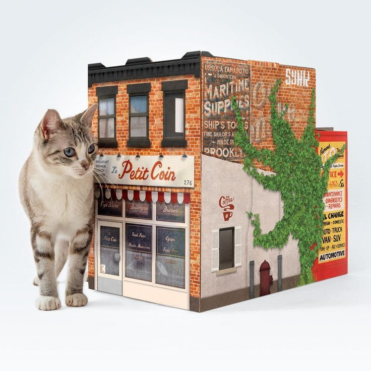 Introducing OTO Brooklyn House for Cats! This one's a tribute to our home borough, and the wonderfully patched-up buildings that line the streets from Greenpoint to Coney Island. OTO Brooklyn House fo