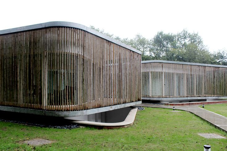 bamboo-clad fo shou house at sifang art museum by mansilla y tuñon