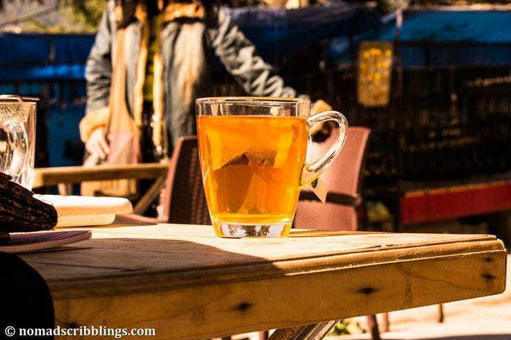 Ginger honey tea. A must in hills.