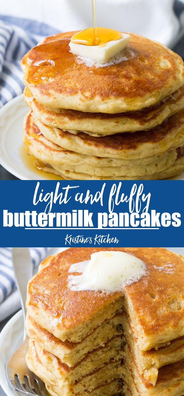 Best Buttermilk Pancakes Homemade Pancake Recipe Buttermilk Recipes Best Pancake Recipe