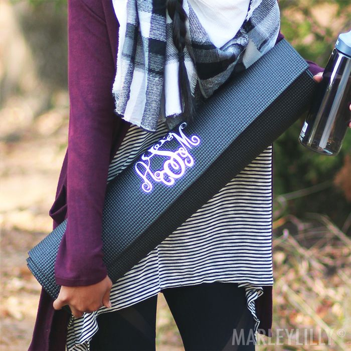 Rise & Grind its yoga time with the perfect Monogrammed Yoga Mat.