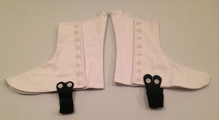 White Piper Spats, White Buttons, Scottish, Army, Military, Highland, Kilt