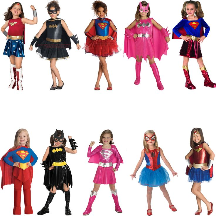 Childs Superhero Fancy Dress Costume Halloween Book Week Kids New Girls Outfit