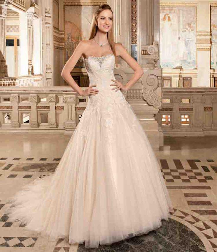 Elegant Rum Pink Wedding Dress