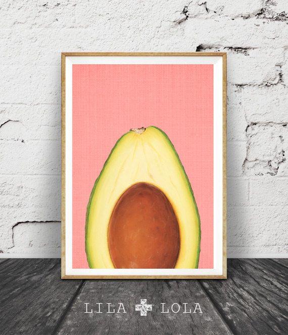 Tropische Art tropischen Dekor Avocado Frucht von lilandlola