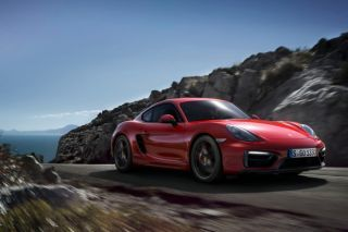 2015 Porsche, in red, with 340 hp,