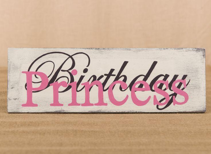Birthday Princess painted candy bar sign