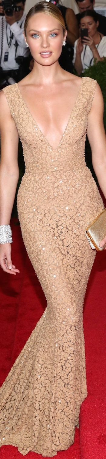 Candice Swanepoel in Michael Kors ~  2015 Met Gala Red Carpet