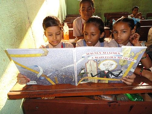 Speaking of World Literacy! Here is Magnus Maximus in a school in Mumbai, India