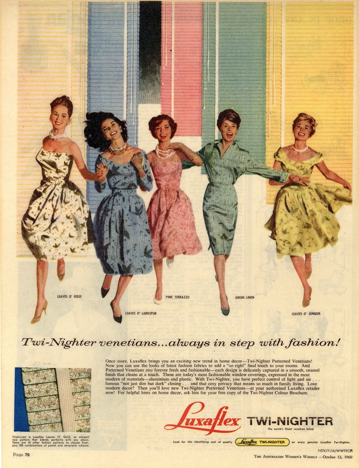 Luxaflex ad from The Australian Women's Weekly - October 12, 1960