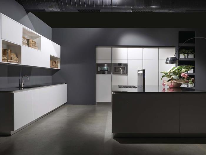 laquered kitchen FLY model Showroom - RiFra Modena www.rifra.com