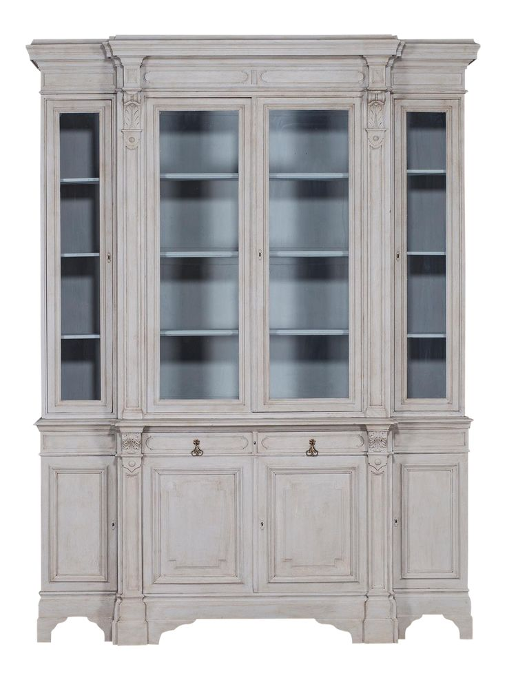 Antique French Painted Oak Bibliothèque Display Cabinet circa 1875 on DECASO.com