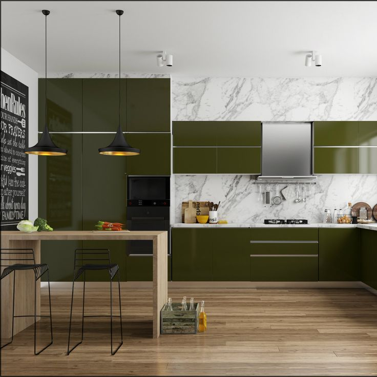 Olive Green Kitchen Decor: 17 Best Images About Modular Kitchens On Pinterest