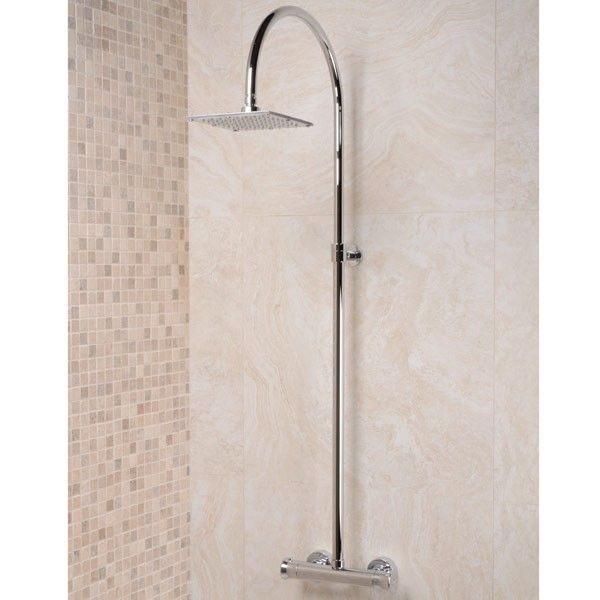 EcoBar Herald Riser Pack, priced at £143.95. EcoBar Herald Riser Pack thermostatic shower valve with 180mm square shower rose. Order now at - http://www.taps.co.uk/ecobar-herald-riser-pack.html