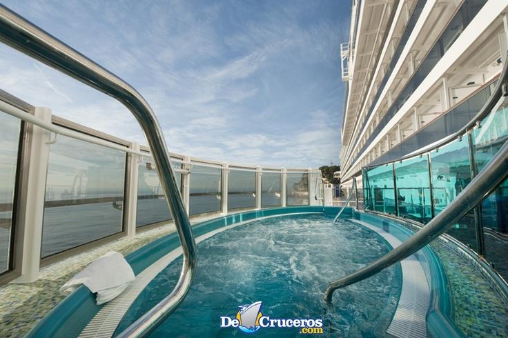 Para disfrutar y relajarse, jacuzzi en el Carnival Dream http://www.decruceros.com/barcos/200/Carnival-Dream