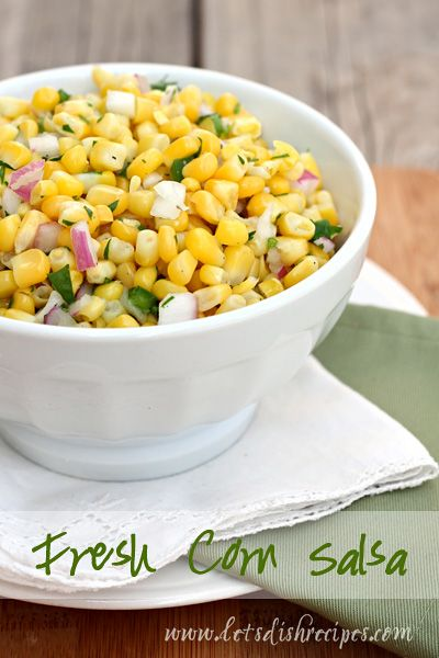 Fresh Corn Salsa Recipe | This simple but delicious salsa is great with corn chips, or add it to your favorite tacos and burritos for a tasty twist on your usual dinner routine.