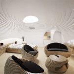 """Architettura d'interni: hotel e """"suite futuristica"""""""