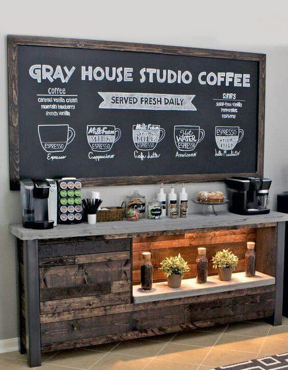 La estación de café
