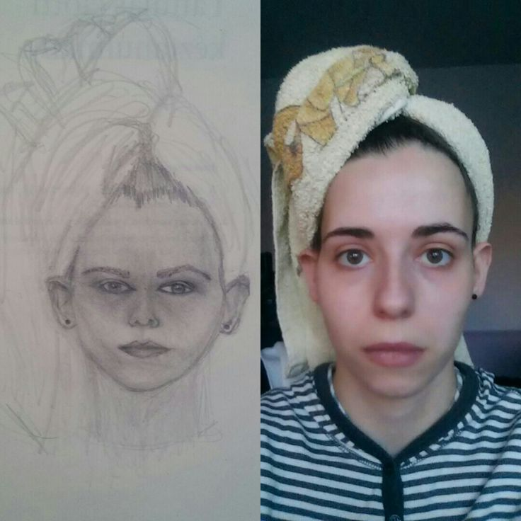 1. self-portrait...Betty Edwards The new Drawing on the Right Side of the Brain Workbook. :)