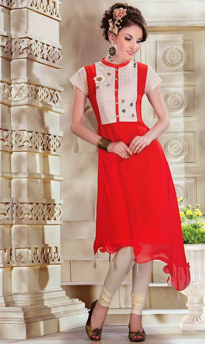 Rakhi Gifts Ideas: This Stunning Red Kurti for Gorgeous Sisters #rakhi #gifts