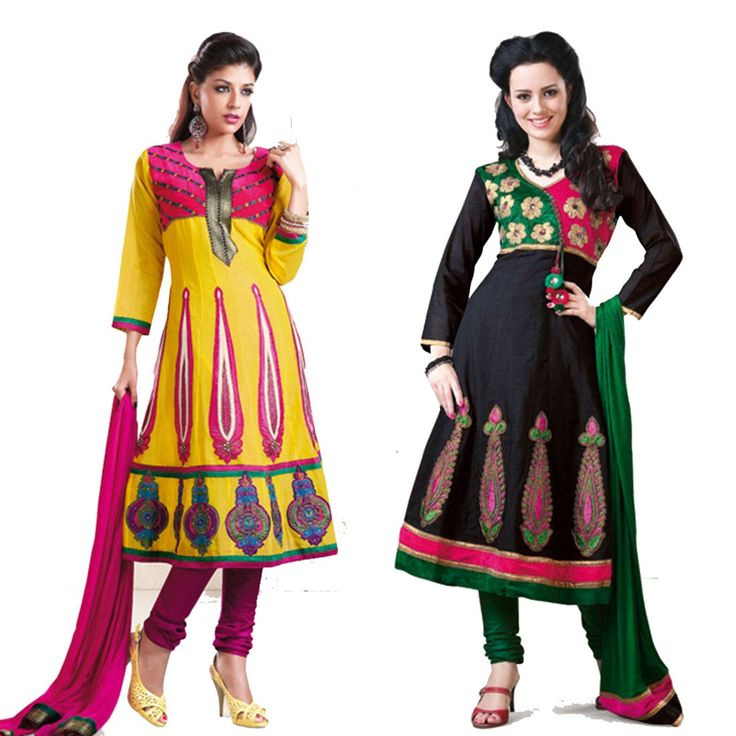 """""""The true measure of #success is how many times you can bounce back from failure."""" Pack of 2 #Cotton Designer #Salwaar Kameez"""