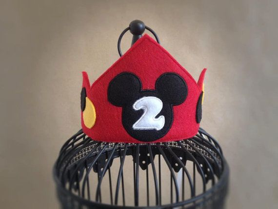 Mickey Mouse birthday Mickey birthday hat by MyHeartnSoulBoutique, $17.00