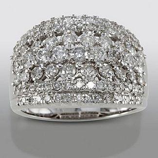 david tutera 2 cttw certified diamond anniversary band in 10k white gold - David Tutera Wedding Rings