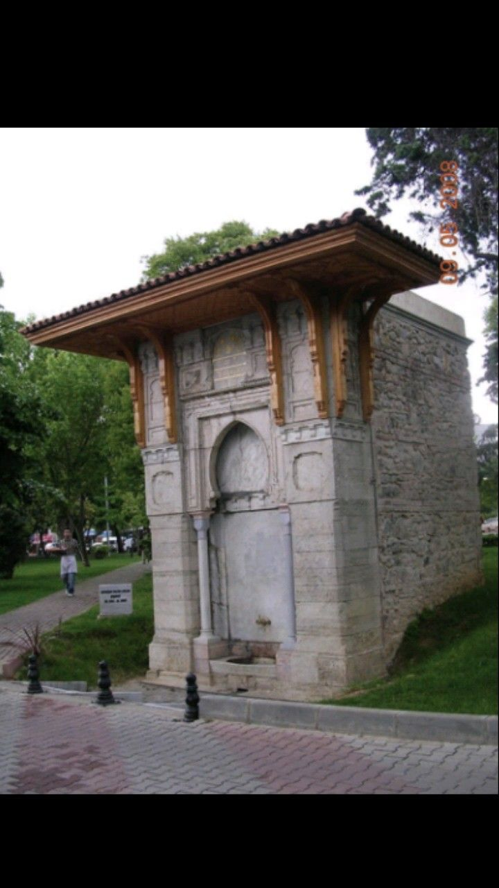 Fountain-Mihrisah Valide Sultan fountain-Constructive: Ottoman Sultan III. Selim's mother Mihrişah Valide Sultan-Year built: 1805-It moved to its current location in 1957-Yeniköy-İstanbul