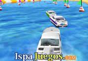Carrera de barcos 3D - Esta carrera los lleva en el Mar, manejando barcos o Botes donde lo tendrás que manejar esquivando obstáculos, dar bien las vueltas y tratar de llegar de primer lugar