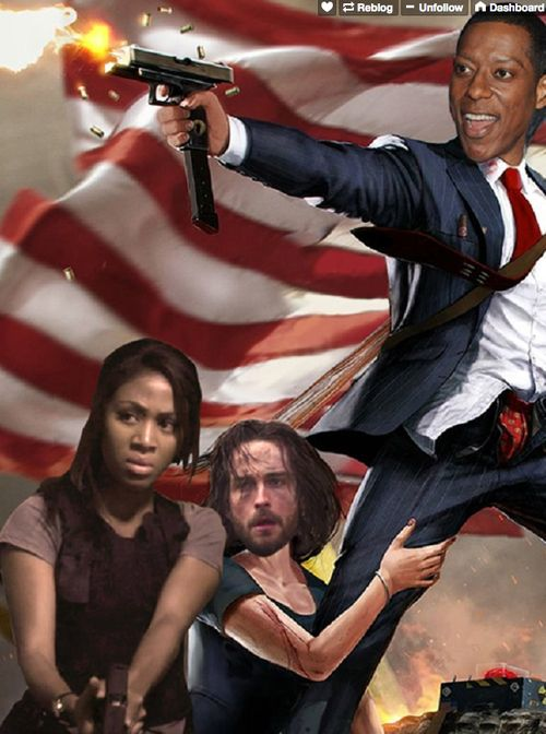 20 Times the Cast of Sleepy Hollow Proved they are Utterly Adorable.(photo made by Orlando Jones himself!)