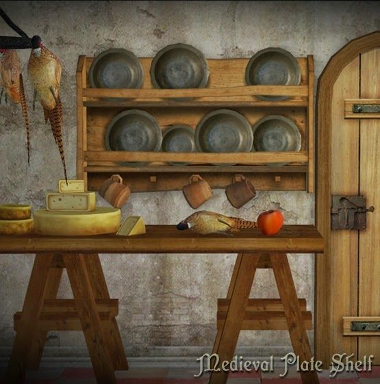 The Medieval Smithy Sims 2 Medieval Plate Shelf Buy