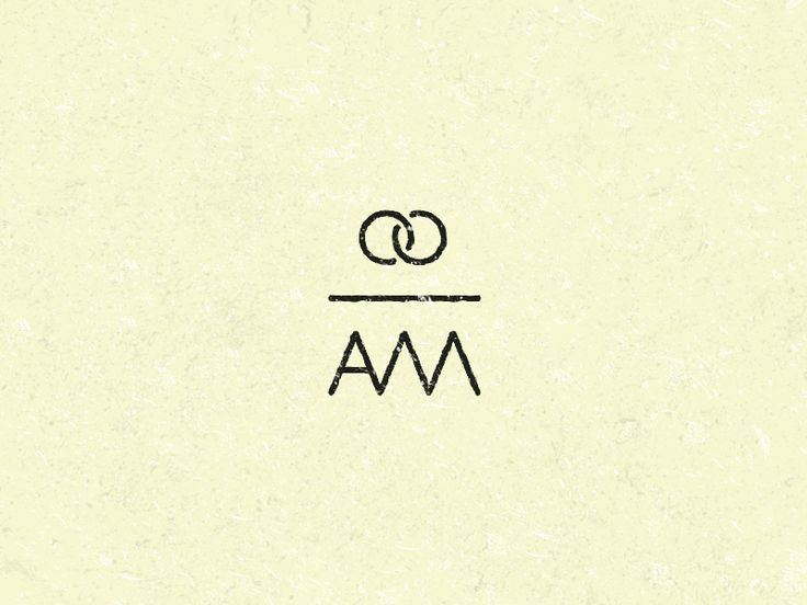 simple wedding logo, love how the two rings look like an infinity symbol
