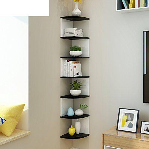 Wjxboos Corner Bookshelf Shelf Storage Rack Wall Mounted Wall Shelf Wall Mounted Corner Rack Corner Triangular Wall Shelves Corner Bookshelves Bookshelf Decor