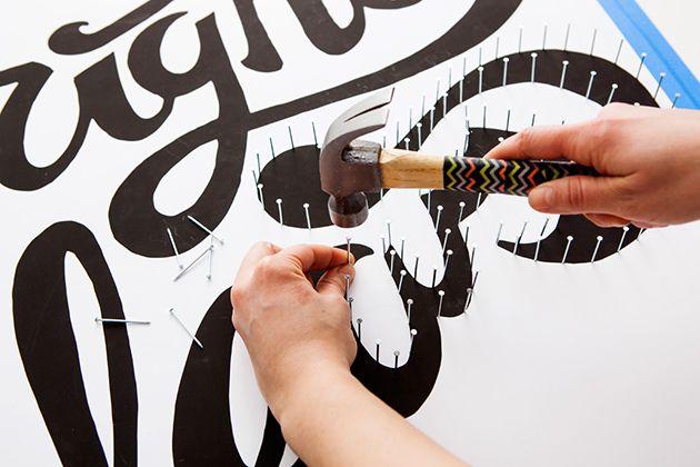 DIY: Baut euch ein typografisches Leucht-Schild