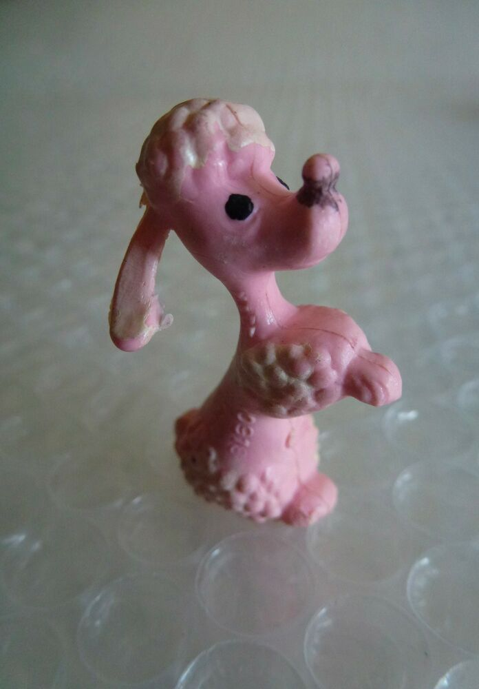 Pink Poodle Fifi Dog Plastic Toy Hong Kong Canine Mini Standard