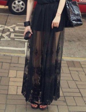 PETRINA Lace Embroidery Maxi Skirt @Gail Regan Truax://www.shopjessicabuurman.com