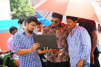 Current Theega Movie Working Stills, Manchu Manoj, Rakul Preet Singh, G Nageswara Reddy on the sets of Current Theega film