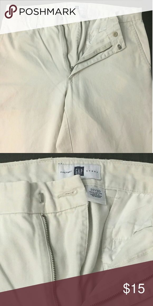 Men's GAP trousers Men's GAP trousers cream color size 32/30 No stains  Barely worn Great condition Great for Summer! GAP Shorts