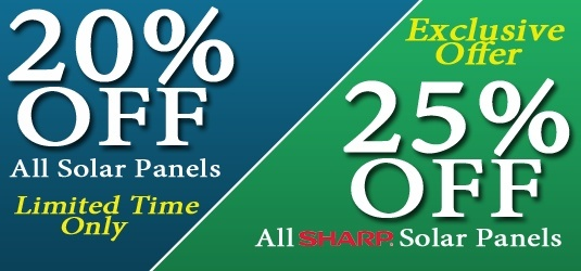 DIRECTPV.COM Have 20% off all Solar Panels.... and 25% off all SHARP Solar Panels
